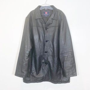 Chaps 100% Leather Jacket Big & Tall 2XLT 50-52